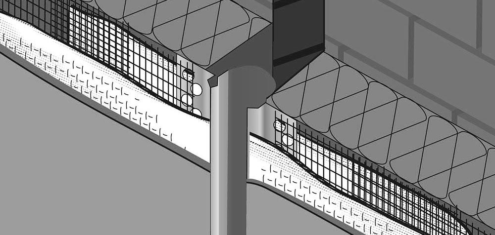 Профиль для деформационного шва Rockwool фасадный пластиковый